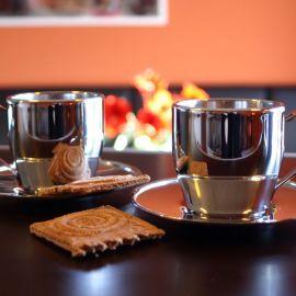 Cappuccino Tassen, doppelwandig